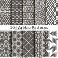 stock-vector-set-of-ten-arabic-patterns-215323615