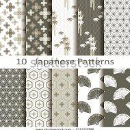 stock-vector-set-of-ten-japanese-patterns-215223766