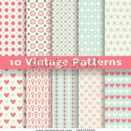 stock-vector--vintage-fashionable-vector-seamless-patterns-tiling-retro-pink-white-and-blue-colors-165722525